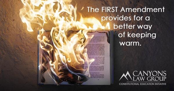 First Amendment Free Speech - Book Burning
